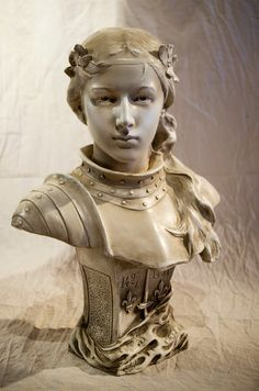Jeanne d'Arc | Saint Joan of Arc - with a look of almighty determination, warrior for God