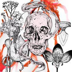 Graphic illustration by Viktor Gornostaev  (2015) #sokrovvenno #skull #knife #gornostaev #gornostaevv #art #arts #graphics #graphic #artoftheday #picture #artist #gallery #masterpiece #creative #design #abstract #composition #geometry #artwork #design #illustration #photo #blackandwhite #digitalart #canvas #painting #drawing