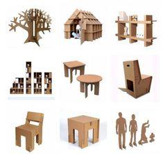 картоновая мебель
