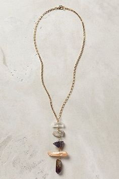 Quartz Ladder Necklace #anthropologie