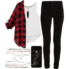 Plaid.  by evelynmassacre on Polyvore