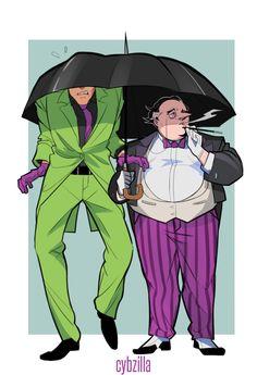 Penguin And Riddler, Penguin Gotham, Batman Art, Batman Comics, Dc Comics, Riddler Gotham, Gotham Villains, Batwoman, Batgirl