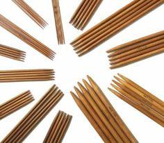 "13 x 5pcs 9"" (23cm) Carbonized Bamboo Double Pointed Knitting Needles Size 2mm - 8mm: Amazon.co.uk: Kitchen & Home"