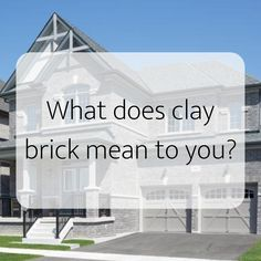 When you use Brampton Brick's genuine clay bricks you are not only building a beautiful home but also increasing the resale value on a virtually maintenance-free home. Clay brick homes last for decades and look better as they age. Brick Homes, Bricks, Beautiful Homes, Clay, Age, Building, Projects, Inspiration, Home Decor