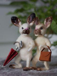 ET – Blogit | Reijan räsymatto – Paula huovuttaa suloisia kettuja ja oravia - katso ohje jäniksen tekemiseen