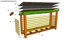 Firewood Shed Plans Free   Free Garden Plans - How to build garden projects