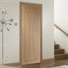 Bespoke Verona Oak Flush Door - Prefinished. #oakdoor #elegantinteriordoor #bespokeoakdoor