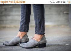 Hey, I found this really awesome Etsy listing at https://www.etsy.com/listing/245757474/sale-35-leather-boots-grey-boots