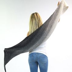 The SKEINO MOON SHAWL is knitted on the bias entirely in Garter Stitch…
