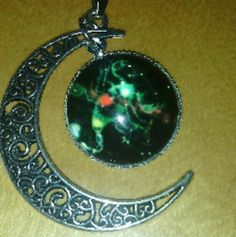 Scorpion (Scorpio) Galaxy Pendant Necklace! Great gift for that Scorpio in your life! Or Zodiac lovers! Super cute with the moon on the side! Jewelry Necklaces