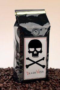 Death Wish Coffee, The World's Strongest Coffee, Fair Trade, Organic, Ground Coffee Beans, 16 Ounce Bag by Death Wish Coffee Company - Exotic Coffee Bean