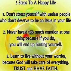3 steps happy of life