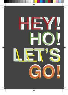Célia Santos — Postal 'HEY! HO! LET'S GO'