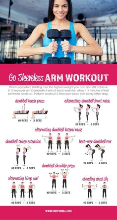 Me Time at the Gym – Get Your Arms in Shape for Spring Fashion with this free printable Go Sleeveless workout routine. Me Time at the Gym – Get Your Arms in Shape for Spring Fashion with this free printable Go Sleeveless workout routine. Fun Workouts, At Home Workouts, Best Arm Workouts, Workouts For Teens, Workouts For Arms, Best Arm Toning Exercises, Aerobic Exercises, Belly Exercises, Workout From Home