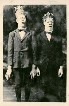 George and Willie Muse in the earliest known photograph of them in the circus. Photograph courtesy of the John and Mable Ringling Museum of Art Tibbals Collection