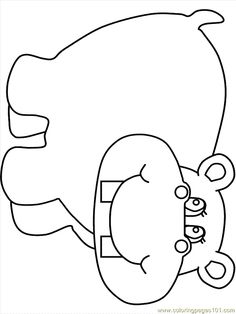 Elephant color page, animal coloring pages, color plate