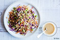 Healthy Recipe: Rainbow Salad with Spicy Peanut Dressing