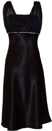 Satin Chiffon Prom Dress Formal Gown Bridesmaid Crystals Knee-Length Junior Plus Size
