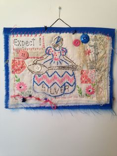 Art quilt, fiber art, mini quilt, fiber art, fabric collage, textile art, quilt, fabric assembly, embroidery, repurposed, upcycled, collage