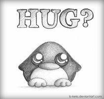 Penguin Hug by B-Keks