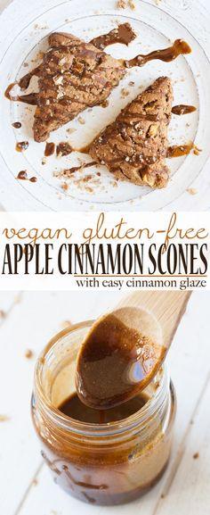 Vegan Gluten Free Apple Cinnamon Scones | www.veggiesdontbite.com | #plantbased #ad #LoveMySilk @LoveMySilk via @veggiesdontbite