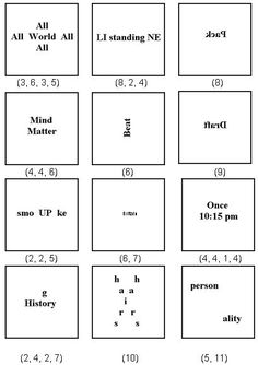 Dingbat puzzles - Promote lateral thinking with these fun puzzles.