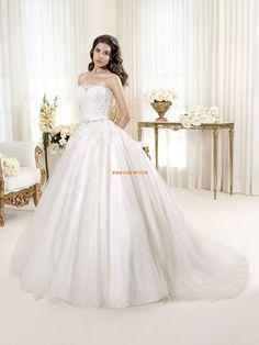 Tülle 3/4 Arm Reißverschluss Brautkleider 2014