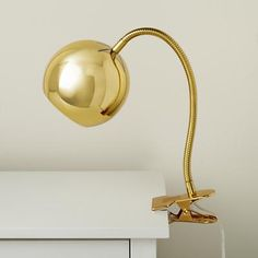 Kids Lighting: Gold Vintage Clip On Table Lamp in Desk Lamps | The Land of Nod