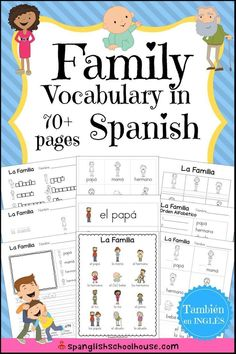 La Familia: Family Vocabulary in Spanish - Spanglish Schoolhouse
