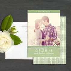 Stylish Simplicity Save The Date Photo Cards by Elli