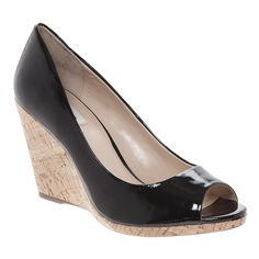 Patent Black Wedge Heels for £29.99 #fabfind