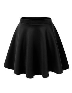 MBJ Womens Basic Versatile Stretchy Flared Skater Skirt S BLACK- #fashion #Apparel find more at lowpricebooks.co - #fashion