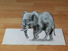 3D elephant by LuccisArt