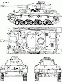 Panzer IV Blueprint - free blueprint for modeling Panzer Iv, Tank Drawing, Patton Tank, Rc Tank, Tank Armor, War Thunder, Model Tanks, Armored Fighting Vehicle, Ww2 Tanks