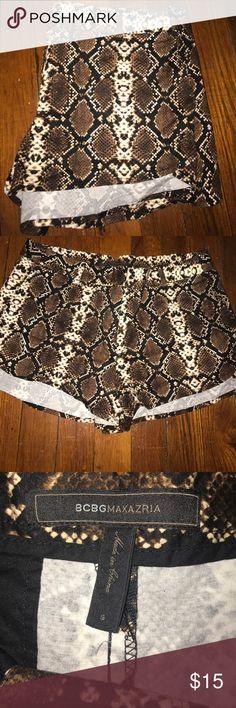MAJOR SUMMER SALE BCBG leopard shorts Size S BCBGMaxAzria Shorts
