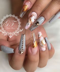 cute and awesome acrylic nails design ideas for any season 56 Related Glam Nails, Dope Nails, Bling Nails, Stiletto Nails, Fun Nails, Coffin Nails, Best Acrylic Nails, Acrylic Nail Designs, Nail Art Designs