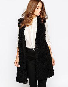 First & I Teddybear Faux Fur Gilet