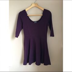 Purple peplum dress Purple peplum dress. Low cut Dresses Mini