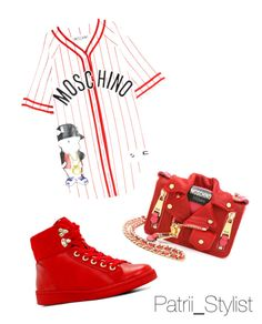 """""""Red Moschino"""" by patrii1989 on Polyvore featuring Moschino, ALDO, red and TotalLook"""
