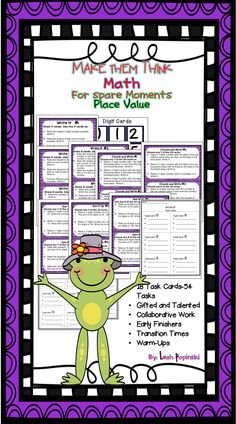 54 Tasks!!! Perfect for early finishers, math centers, collaborative work, warm-ups, and gifted learners. Each activity includes the use of the Common Core Mathematical Practices and the Texas TEKS Process Standards. Best for Grades 4-6