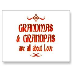 Grandmas and Grandpas are all about Love ♥