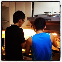 Chef and sous chef. :D - @marcuspang- #webstagram