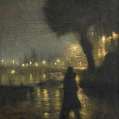 "Painting by Anne Magill ""Evening Falls"", 2012 Nocturne, Figure Painting, Painting & Drawing, Abstract Portrait Painting, Portrait Paintings, Acrylic Paintings, Art Paintings, Abstract Art, Moritz Von Schwind"
