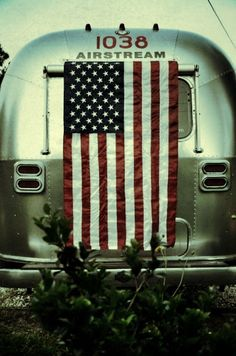 July 4th Airstream Vintage Airstream, Vintage Travel Trailers, Vintage Campers, Happy 4 Of July, Fourth Of July, Airstream Renovation, Airstream Remodel, A Lovely Journey, Tin Can Tourist