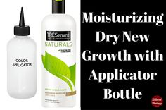 Dealing with dry new growth is one of the toughest aspects of relaxer stretching...restore moisture to your natural hair...relaxed hair new growth. relaxedthairapy.com