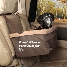 Take your dog along on your travels.  The Solvit Tagalong Pet Booster Seat comes in medium, large and extra large for you small or jumbo size dog. The Solvit tagalong installs securely in just one minute in any vehicle with headrests and works in both the front and back seat of your car.This Booster seat featurea a padded interior and an internal harness attachement to create a secure ride for your dog. #dogcarset #SolvitBoosterSeat #PetBoosterSeat #BoosterSeatCar