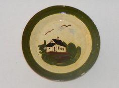 Vintage Old Watcombe Torquay Devon Motto Ware Cottage Butter Pat Dish | eBay