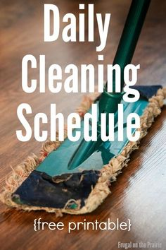 Feel like your home is a constant mess? I've got a free cleaning schedule… Chore Schedule, Cleaning Schedule Printable, Clean House Schedule, Cleaning Schedules, Speed Cleaning, Daily Cleaning, Cleaning Hacks, Time Management Printable, Home Management Binder