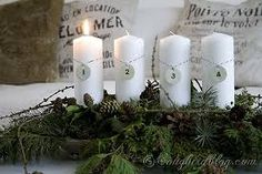vintage containers for advent candles - Google Search