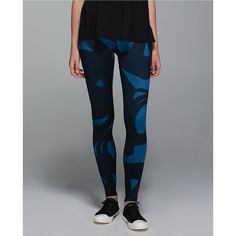 lululemon Wunder Under Pant *Full-On Luon (Roll Down) featuring polyvore, fashion, clothing, activewear, activewear pants, lululemon and yoga activewear